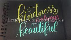 Lettering con rotuladores KURETAKE Fudebiyori Metallic: Kindness - YouTube