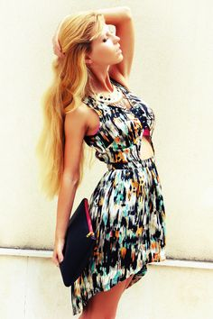 lovely colorful dress