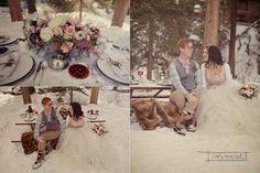 Una sesión de fotos que os va a robar el corazón Snow Wedding, Wedding Shoot, Wedding Table, Boho Deco, Madame C, Winter Wedding Inspiration, Boho Bride, Happily Ever After, Got Married