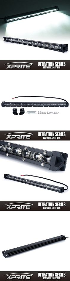 Car Lighting: Xprite C6 90W 20 Ultra Thin Single Row Cree Led Flood Work Light Bar Off-Road -> BUY IT NOW ONLY: $59.69 on eBay!