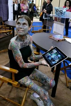 May 28, 2010 ·Julia Gnuse is the most tattooed woman in the world with 95 percent of her body covered in ink. Description from vebidoo.com. I searched for this on bing.com/images