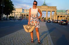 Sicily Bag in Berlin at the Brandenburg Gate!  Shop at sicilybag.com Every straw bag / coffa is unique & handmade in Sicily by a local artisan. By purchasing a Sicily Bag, you'll help supporting a fading craft.