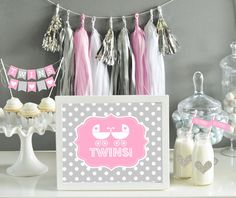 27 Best Twin Baby Shower Ideas Images Twin Baby Girls Twin Baby