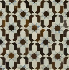 Moorish Tiles = Handmade tiles can be colour coordinated and customized re. shape, texture, pattern, etc. by ceramic design studios