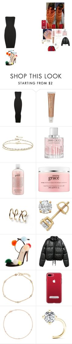 """merry christmas"" by foodislyfe on Polyvore featuring Wolford, Forever 21, ASOS, Jimmy Choo, philosophy, Fendi, BERRICLE and Gucci"