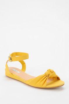 Kimchi Yellow Pinup Mini-Wedge Sandal
