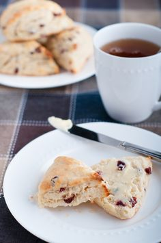 Cranberry Scones or Tea Biscuits. These scones are flaky on the outside, moist on the inside, and simply yummy. They're a perfect quick breakfast-on-the-go, but they're also perfect for a casual Sunday brunch with friends and family. Recipe's on the blog right now!
