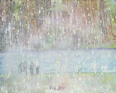 Peter Doig, Cobourg 3 + 1 More,1994. Oil on canvas. 78½ x 98⅜ in (200 x 250 cm). Estimate £8,000,000-12,000,000. This work is offered in the Post War and Contemporary Art Evening Sale on 7 March at Christie's London