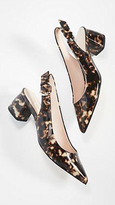 Kate Spade tortoiseshell pumps Chunky Heel Pumps, Pumps Heels, Patent Leather Pumps, Block Heels, Kitten Heels, Kate Spade, Court Shoes, Shoes Heels