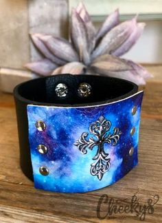Cheekys Brand Original ~ Cross Cuff in Black! This cuff measures at 7 inches on the smallest setting and and inches on the largest. Thank you for shopping Cheekys! Stretch Bracelets, Cuff Bracelets, Real Country Girls, Arrow Ring, Liking Someone, Beautiful Soul, Leather Jewelry, Women Wear, Boutique