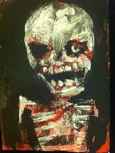 """""""ZOMBIE ART     abstract,   original art,ACEO  jack larson 3.5""""x2.5"""" #Abstract"""