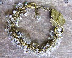 Bracelet Crystal Beadwork Bohemian jewelry by TheeElegantBohemian, $56.00--Use seed beads