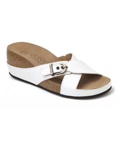 Loving this White Mallorca Leather Slide on #zulily! #zulilyfinds