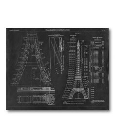 Look what I found on #zulily! Black & White Eiffel Tower Canvas Wall Art #zulilyfinds