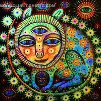Here are 21 really trippy psychedelic images. Be sure to check out the psychedelic multi-colored lizard, the trippy psychedelic face, and the strange three eyed psychedelic creature. There is also a psychedelic chakras image and Trippy Cat, Black Light Posters, Psy Art, Hippie Art, Science Fiction Art, Psychedelic Art, Cat Gif, Art Google, Illustration Art