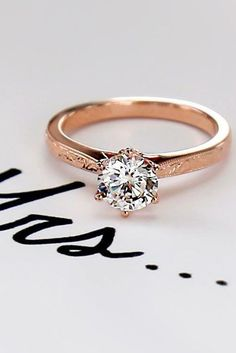 27 Rose Gold Engagement Rings That Melt Your Heart See More Http