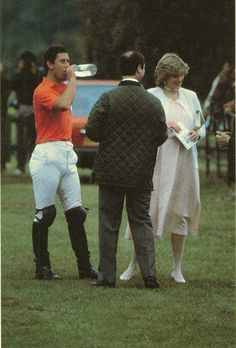June 14, 1982: Prince Charles  Princess Diana at a polo match at Smith's Lawn, Windsor.