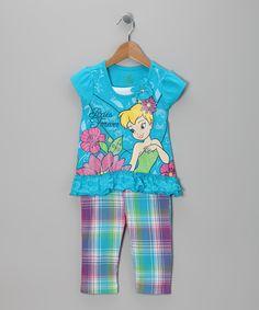 Aqua & Purple Tinker Bell Tee & Capri Pants - Toddler   Daily deals for moms, babies and kids