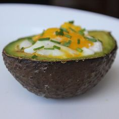 If you haven't already tried this neat   trick, you are missing out! Baked Eggs are best served in an Avocado. Click for   the recipe!