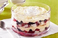 Creamy Layered Fruit Sensation Recipe - Kraft Recipes