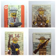 4 new train ticket paintings..