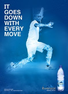 Afficher l'image d'origine Agua Mineral, Mineral Water, Advertising Poster, Advertising Design, It's Going Down, Poster Layout, Print Ads, Water Sports, Uganda