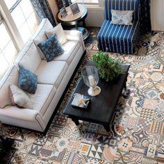 Patchwork Effect Tiles Zellij Tiles 442x442x10mm Tiles