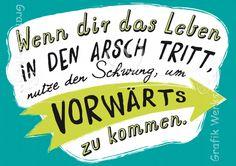 Wenn dir das Leben - Postkarten - Grafik Werkstatt Bielefeld