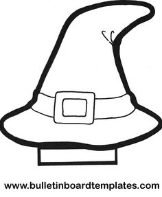 1000 images about thema heksen on pinterest witches for Paper witch hat template