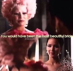 I loved how they showed Effie as finally realizing what the Hunger Games were, and how it was hard for her to part with Katniss and Peeta thinking they would both die