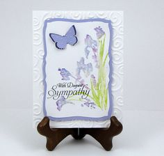 Elegant deepest sympathy watercolor flower by catSCRAPPIN on Etsy, $4.50