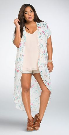 Love this! Plus Size Chiffon Duster