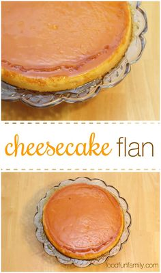 Cheesecake flan take