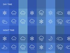 Weather Icons Set Sketch freebie - Download free resource for Sketch 3- Sketch App Sources