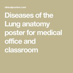 Diseases of the Lung anatomy poster for medical office and classroom