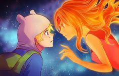 Finn & Flame Princess (Adventure Time)