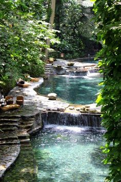 Natural Swimming Pool with Waterfall Enjoy A Natural Swimming Pool In Your Own Yard! Natural Swimming Pool with Waterfall. Natural swimming pools contain no harmful chemicals or chlorine, they are … Natural Swimming Pools, Amazing Swimming Pools, Luxury Swimming Pools, Luxury Pools, Dream Pools, Cool Pools, Awesome Pools, Pool Designs, Backyard Designs