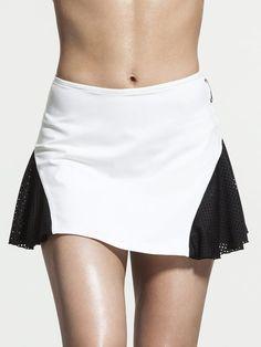 Deuce Skirt in White/black Tennis Outfits, Tennis Wear, Tennis Skirts, Sports Skirts, Tennis Dress, Tennis Clothes, Golf Outfit, Dance Outfits, Skirt Outfits