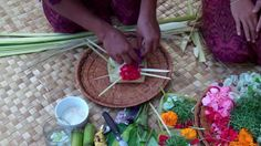 The Longhouse - Canang Offering Baskets   www.thelonghousebali.com