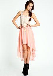 Lace HI Low Dress:$28.90