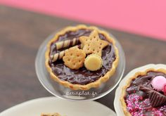Chocolate Tarts - Biscuits #miniature #fimo #polymerclay #craft #handmade