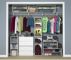 BOTTOM Closetmaid 3 Shelf Vertical Stacker Two Stackable 2