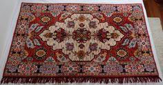 Vintage GDR Kilim German floral carpet soviet by MadeInTheUSSR