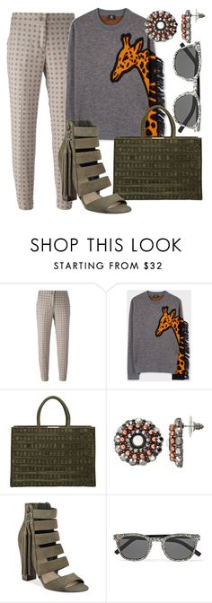 """""""Armed in Animal Warfare"""" by fashionforwarded ❤ liked on Polyvore featuring Etro, Paul Smith, Tomasini, Gemma Simone, GUESS and Yves Saint Laurent"""