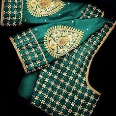 To get your outfit customized visit us at Chennai, Kottivakkam, ECR. Call/msg us at . Wedding Saree Blouse Designs, Pattu Saree Blouse Designs, Simple Blouse Designs, Stylish Blouse Design, Fancy Blouse Designs, Blouse Neck Designs, Maggam Work Designs, Sleeves Designs For Dresses, Designer Blouse Patterns