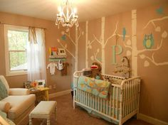 z baby is a girl, paint owl bellies pink, pink letter, little pink details :) Owl Nursery Decor, Girl Nursery, Girl Room, Nursery Ideas, Monkey Nursery, Themed Nursery, Bedroom Ideas, Everything Baby, Nursery Neutral