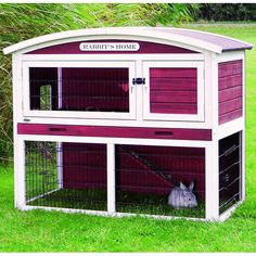 Trixie Pet Rabbit Hutch with Attic - Overstock™ Shopping - The Best Prices on Trixie Pet Products Other Pet Houses Angora Rabbit, Pet Rabbit, Bunny Hutch, Bunny Cages, House Rabbit, Rabbit Hutches, Outdoor Survival, Animal House, Dog Houses
