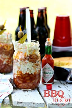 BBQ in a jar!  Perfect for parties, picnics or Summer holidays!