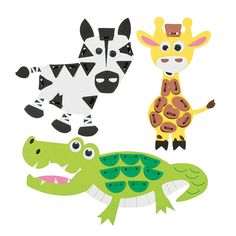 Lacing Safari Animals Craft Kit, Novelty Crafts, Crafts for Kids, Craft & Hobby Supplies - Oriental Trading