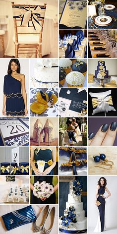 Navy and gold wedding colors. I actually REALLY like how this looks!